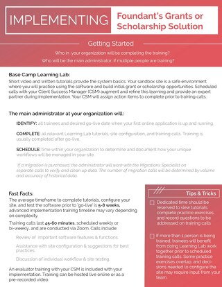 Implementing Foundant's Grants or Scholarship Solution