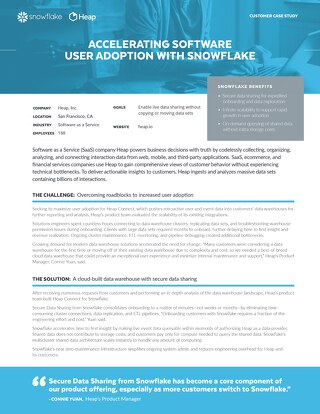 Heap: Accelerating Software User Adoption With Snowflake