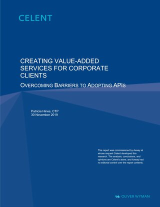 Creating value-added services for corporate clients - Overcoming barriers to adopting APIs
