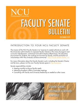 NCU Faculty Senate Bulletin_Dec 2019