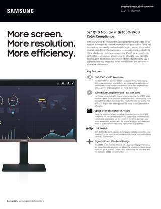 Samsung SD850 Series Business Monitor