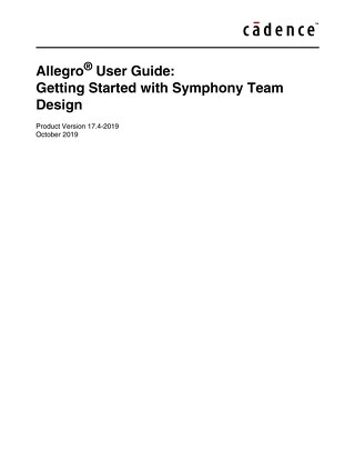 Getting Started with Symphony Team Design