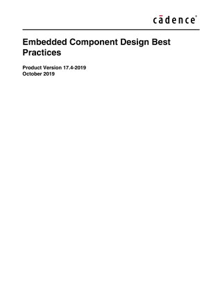 Embedded Component Design Best Practice