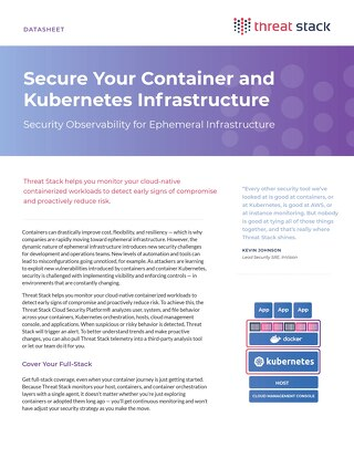 Container and Kubernetes Data Sheet