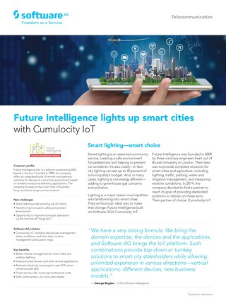 Future Intelligence and Cumulocity IoT light up smart cities