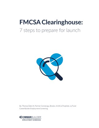 FMCSA Clearinghouse - whitepaper - 7 steps to prepare for launch