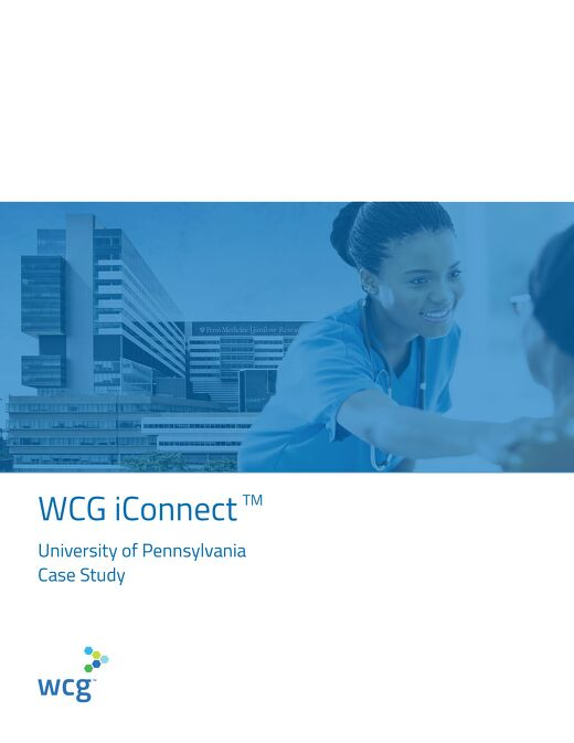 WCG iConnect— UPenn Case Study