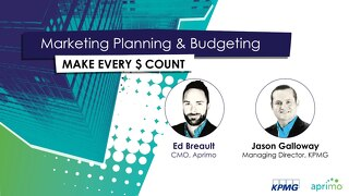Aprimo & KPMG Webinar Slides: Marketing Planning and Budgeting