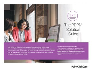 PDPM Solution Guide