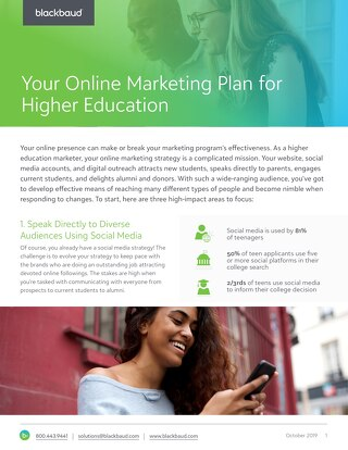 White Paper:  Online Marketing Plan