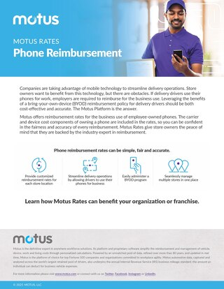 Motus Rates: Phone Reimbursement