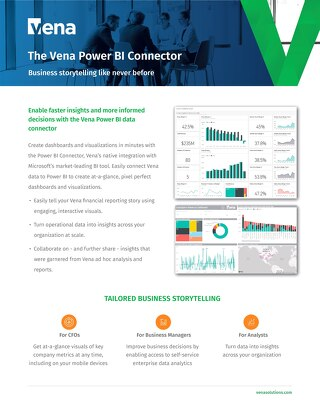 The Vena Power BI Connector