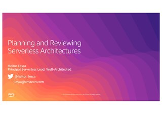 Planning and Reviewing Serverless Architectures_AWS