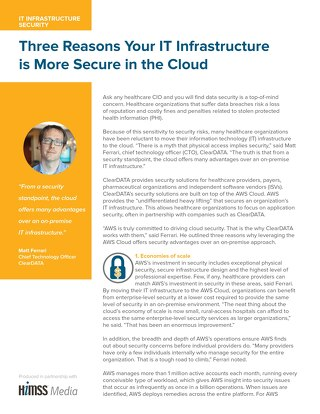 Three reasons your IT infrastructure is more secure in the cloud
