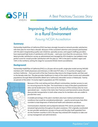 Best Practices-Improving Provider Satisfaction in Rural Environment