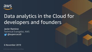 Data lakes and analytics in the Cloud for developers and founders