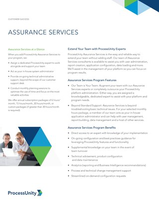ProcessUnity Assurance Services