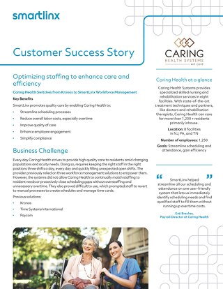 Caring Health Success Story