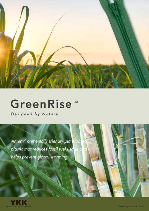 GreenRise Plant-derived Zipper