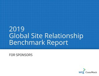 2019 Global Site Relationship Survey - Sponsor Executive Summary Pages