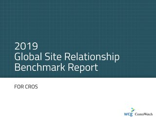 2019 Global Site Relationship Survey - CRO Executive Summary Pages