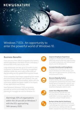 Windows 7 EOL Flyer