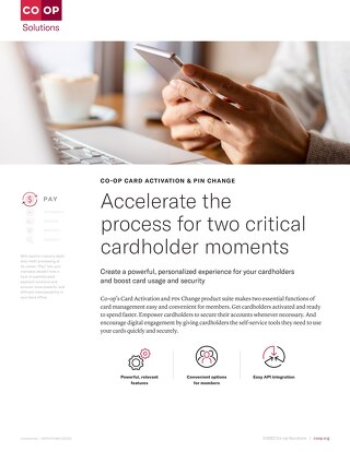 Card Activation PIN Change Slipsheet