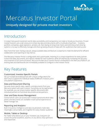 Designed For Private Market Investors | The Mercatus Investor Portal