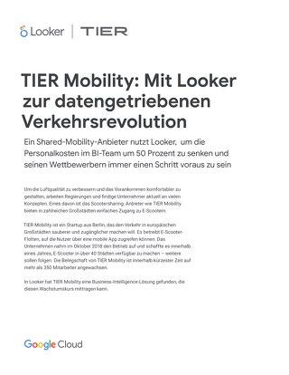 TIER Mobility: Mit Looker zur datengetriebenen Verkehrsrevolution