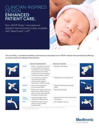 Info Sheet: Non-DEHP Shiley™ Neonatal and Pediatric Tracheostomy Tubes