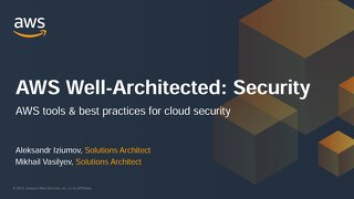 PDF| AWS Well-Architected: Security