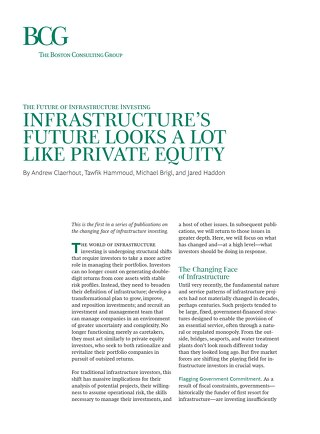 Infrastructure's Future Looks a Lot Like Private Equity