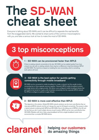 Claranet | SD-WAN cheat sheet