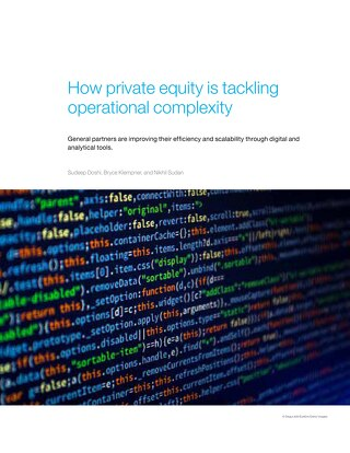 How Private Equity is Tackling Operational Complexity | McKinsey