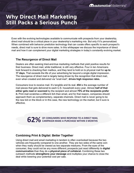 Why Direct Mail Still Packs a Serious Punch