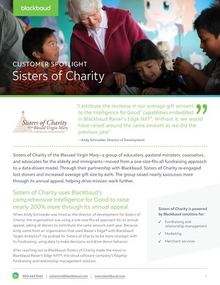 Sisters of Charity Customer Story