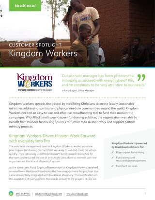 Kingdom Workers Customer Story