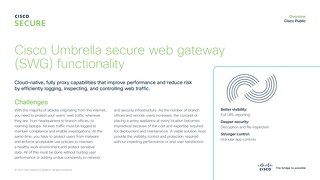 Cisco Umbrella secure web gateway (SWG)
