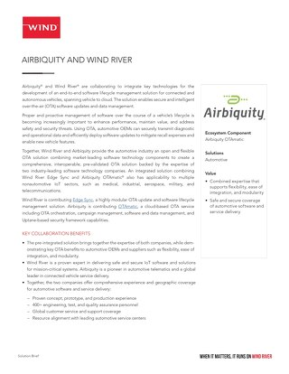 Airbiquity and Wind River Solution Brief