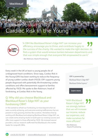 Cardiac Risk in the Young | Raiser's Edge NXT