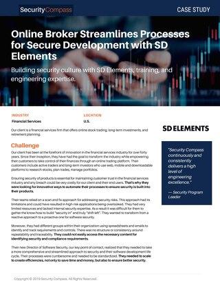 Online Broker Streamlines Processes for Secure Software Development