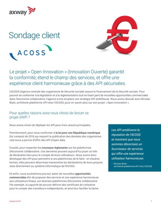 Sondage client- Acoss