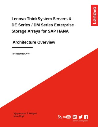 Lenovo ThinkSystem Servers and DE-DM Series Enterprise Storage for SAP HANA