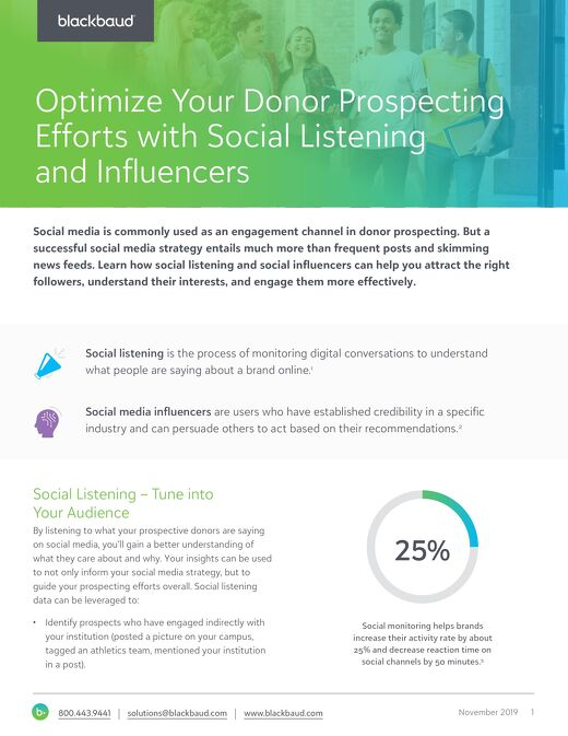 Tip Sheet:  Optimize Prospecting with Social Listening and Influencers