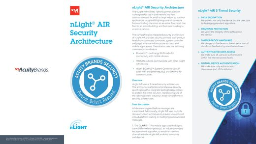nLight® AIR Security Brochure