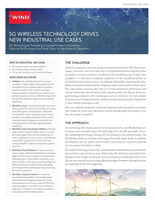 5G Industrial Use Cases