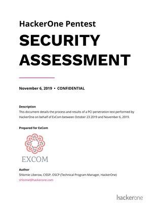 HackerOne Pentest Report Sample