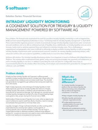 Intraday Liquidity Monitoring by Cognizant powered by Software AG