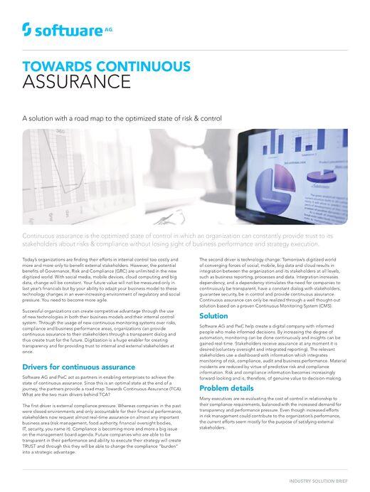 Towards Continuous Assurance (TCA)