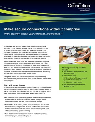 Work securely, protect your enterprise, and manage IT with HP, Intel and Microsoft